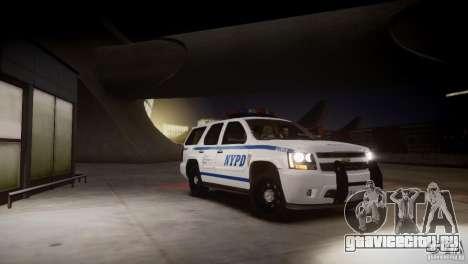 Chevrolet Tahoe 2012 NYPD для GTA 4 вид сбоку