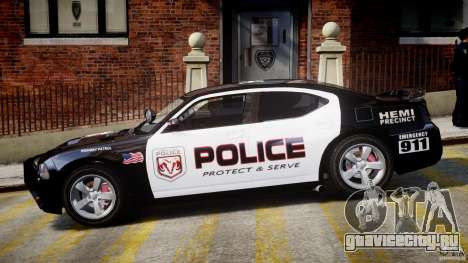 Dodge Charger NYPD Police v1.3 для GTA 4 вид сзади слева