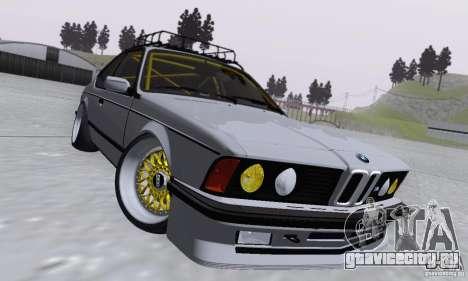 BMW M635CSi Stanced для GTA San Andreas вид изнутри