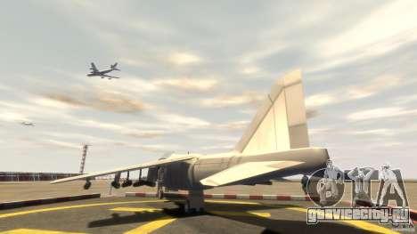 Liberty City Air Force Jet (с шосси) для GTA 4 вид сзади слева