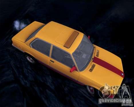 BMW E21 для GTA San Andreas вид изнутри