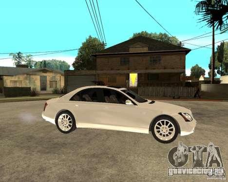 Maybach 57 S для GTA San Andreas вид справа