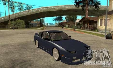 Nissan 180SX Turbo JDM для GTA San Andreas вид сзади