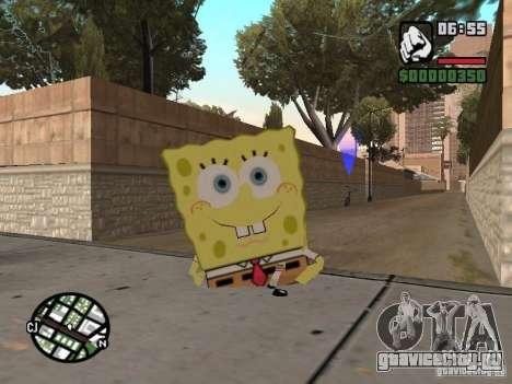 Sponge Bob для GTA San Andreas пятый скриншот