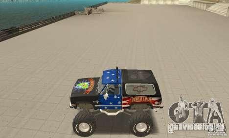 Chevrolet Blazer K5 Monster Skin 3 для GTA San Andreas