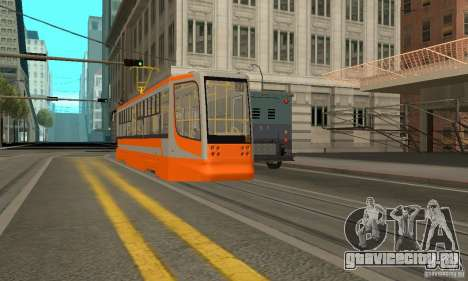 Трамвайный вагон 71-623 для GTA San Andreas вид сзади слева