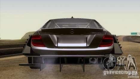 Mercedes Benz C-Class Touring 2008 для GTA San Andreas вид сзади