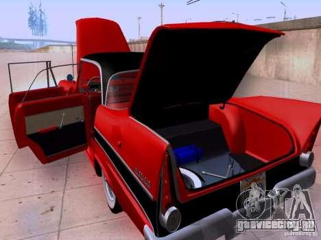 Plymouth Belvedere Sport Sedan 1957 для GTA San Andreas вид изнутри