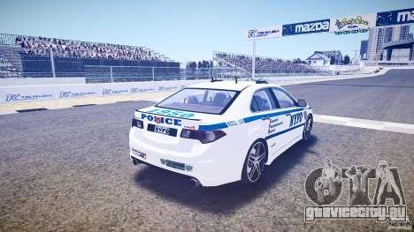Honda Accord Type R NYPD (City Patro 1950l) ELS для GTA 4 вид сбоку