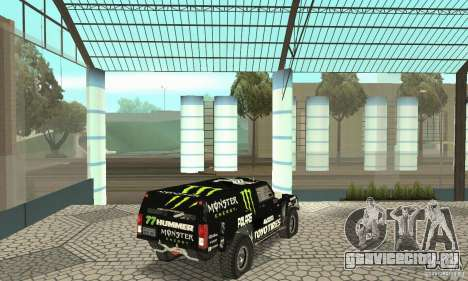 Hummer H3 Baja Rally Truck для GTA San Andreas вид слева