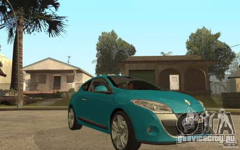Renault Megane 3 Coupe для GTA San Andreas вид сзади