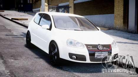 Volkswagen Golf 5 GTI для GTA 4 вид сзади