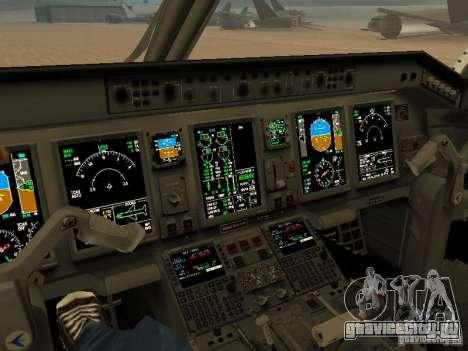 Embraer ERJ 190 Air Canada для GTA San Andreas вид изнутри