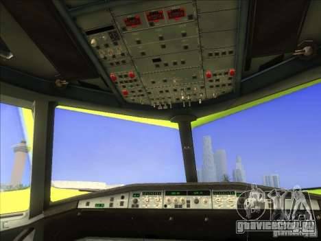 Airbus A-320 S7Airlines для GTA San Andreas вид сзади