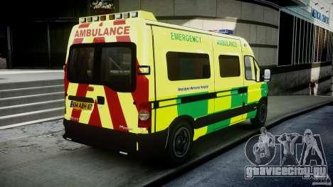 Renault Master 2007 Ambulance Scottish [ELS] для GTA 4 вид сбоку