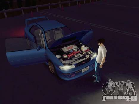 Subaru Impreza WRX GC8 InitialD для GTA San Andreas вид сзади слева