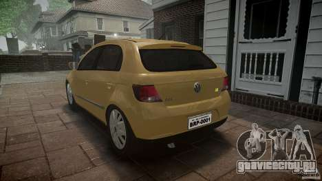 Volkswagen Gol 1.6 Power 2009 для GTA 4 вид изнутри