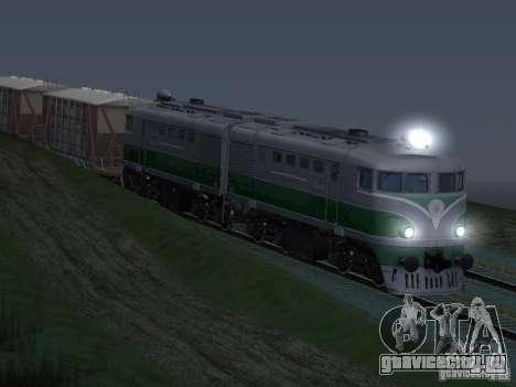 ТЭ2-414 для GTA San Andreas вид изнутри
