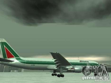 Boeing 767-300 Alitalia для GTA San Andreas салон