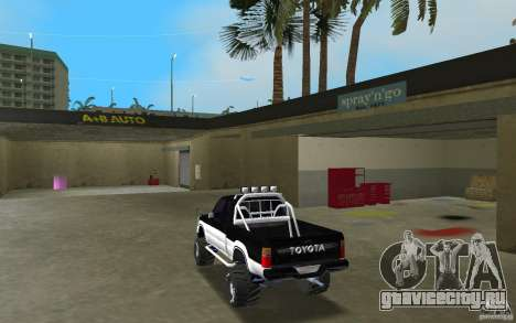 Toyota Hilux Surf для GTA Vice City вид сзади слева