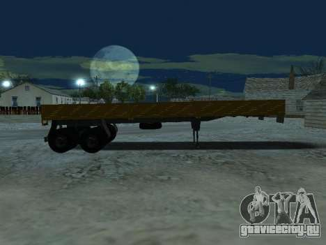 Прицеп для КамАЗа 5410 для GTA San Andreas вид изнутри