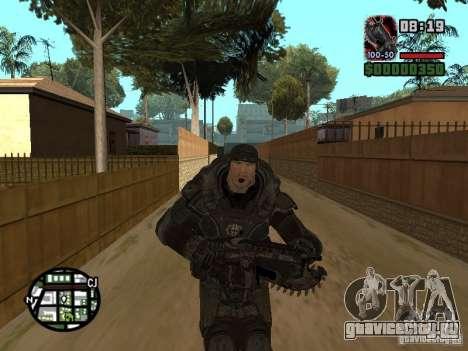 Маркус Феникс из Gears of War 2 для GTA San Andreas пятый скриншот