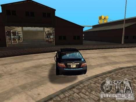 Toyota Camry 2007 для GTA San Andreas вид сзади слева