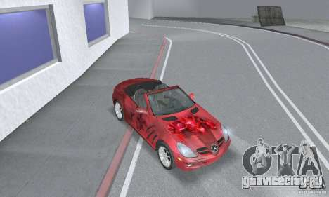 Mercedes-Benz SLK 350 для GTA San Andreas вид изнутри
