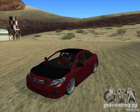 Toyota Corolla 2008 Tuning для GTA San Andreas