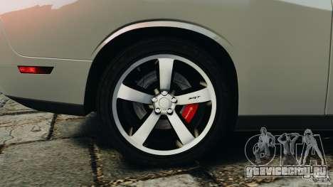 Dodge Challenger SRT8 392 2012 для GTA 4 салон