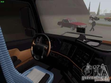 Volvo FH13 Globetrotter для GTA San Andreas вид изнутри