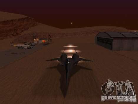 ADF01 Falken для GTA San Andreas вид изнутри