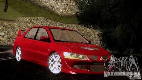 Mitsubishi Lancer Evolution IIIV для GTA San Andreas вид изнутри