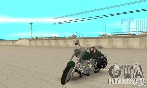 Harley Davidson FLSTF (Fat Boy) v2.0 Skin 1 для GTA San Andreas