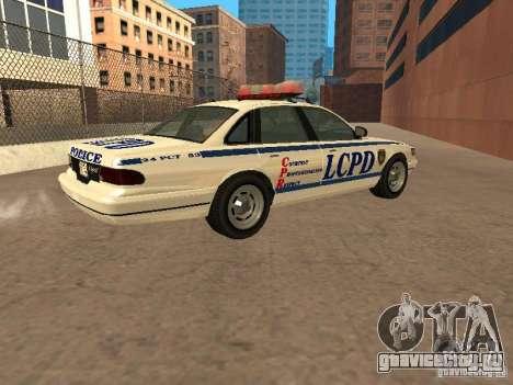 Полиция из гта4 для GTA San Andreas вид слева