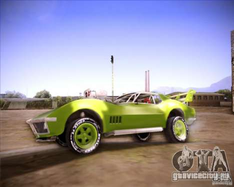Chevrolet Corvette drag для GTA San Andreas вид слева
