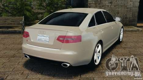 Audi RS6 2010 v1.1 для GTA 4 вид сзади слева