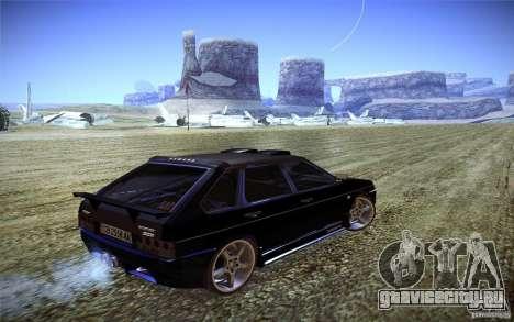 ВАЗ 2109 Карбон для GTA San Andreas вид сзади слева