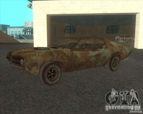 Ford Torino extreme rust 1970 для GTA San Andreas вид изнутри