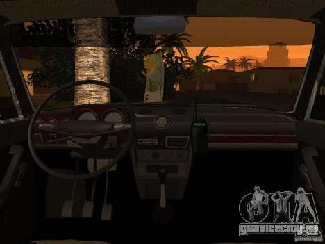 ВАЗ 2106 Полиция v2.0 для GTA San Andreas вид сбоку