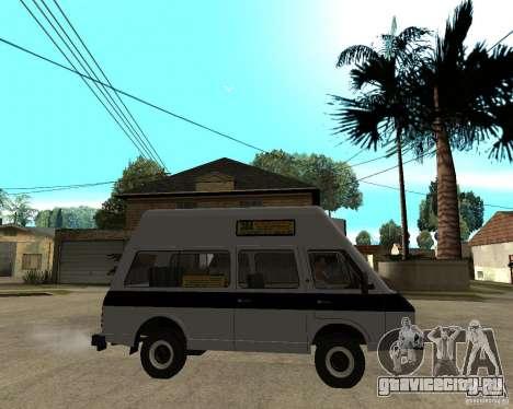 РАФ 22038 Маршрутное такси для GTA San Andreas вид справа