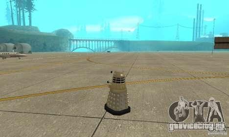 Dalek Doctor Who для GTA San Andreas вид сзади слева