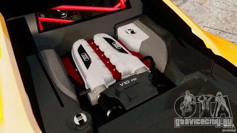 Audi R8 GT Coupe 2011 для GTA 4 вид сзади