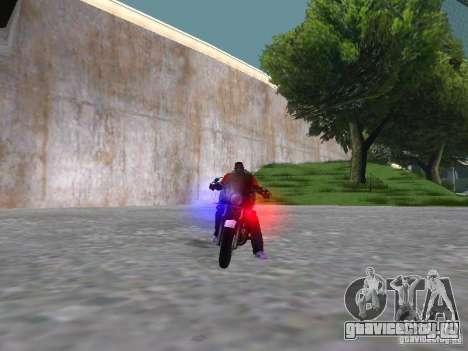 Harley Davidson Dyna Defender для GTA San Andreas вид изнутри