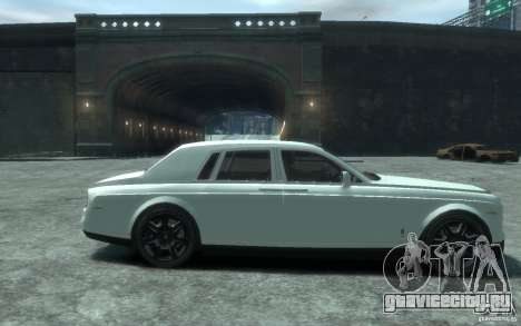 Rolls-Royce Phantom для GTA 4 вид сзади