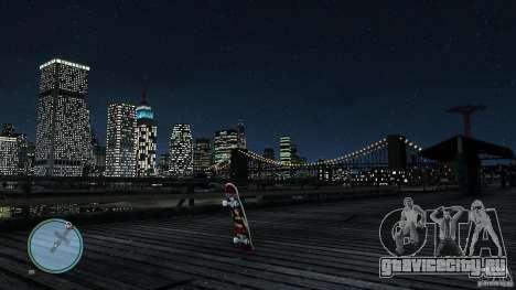 Скейтборд №2 для GTA 4 вид справа