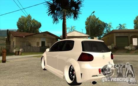 VW Golf 5 GTI Tuning для GTA San Andreas вид сзади слева