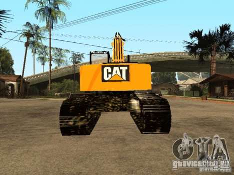 Экскаватор CAT для GTA San Andreas вид сзади слева