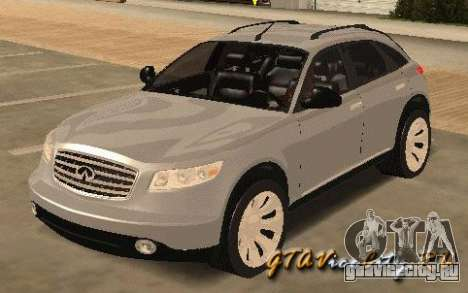 INFINITY FX45 для GTA San Andreas вид слева