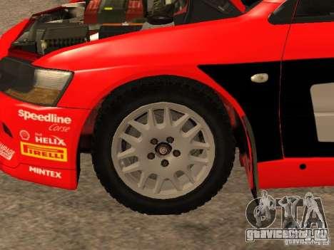 Mitsubishi Lancer Evo IX DiRT2 для GTA San Andreas салон